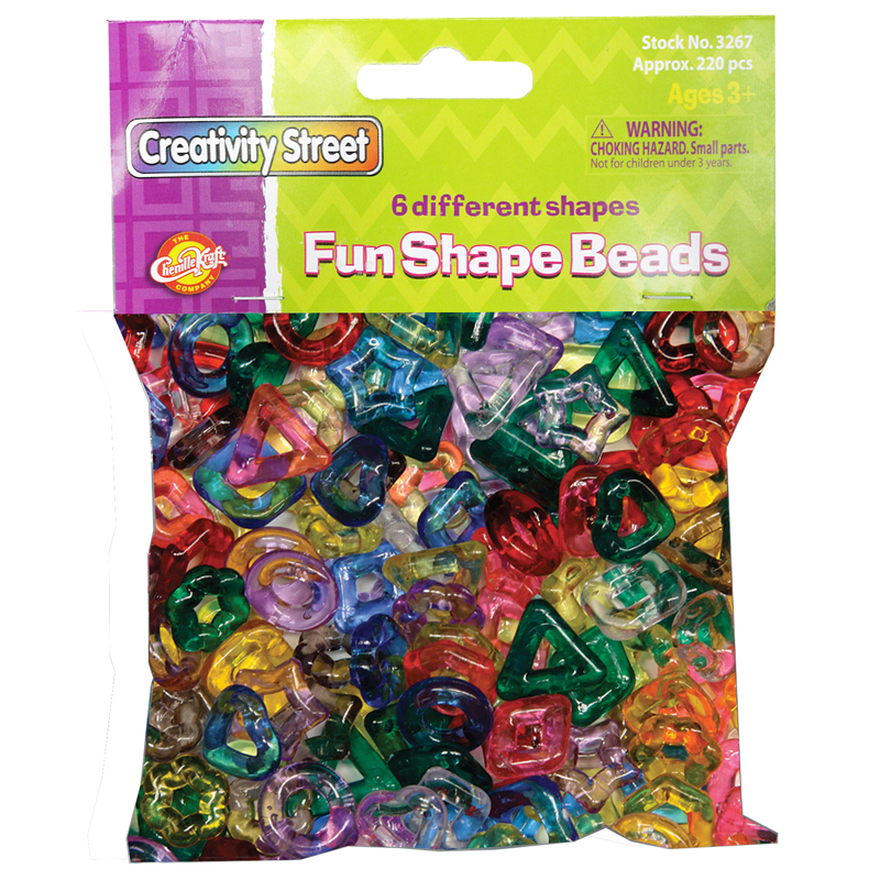 Stringing Ring Beads 220pc Assortedshapes & Colors