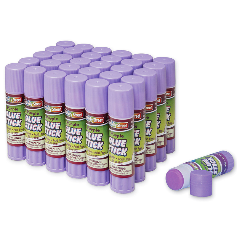 Glue Sticks 30 Purple .28 Oz