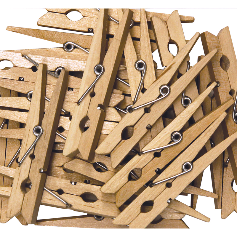 Large Spring Clothespins Natural