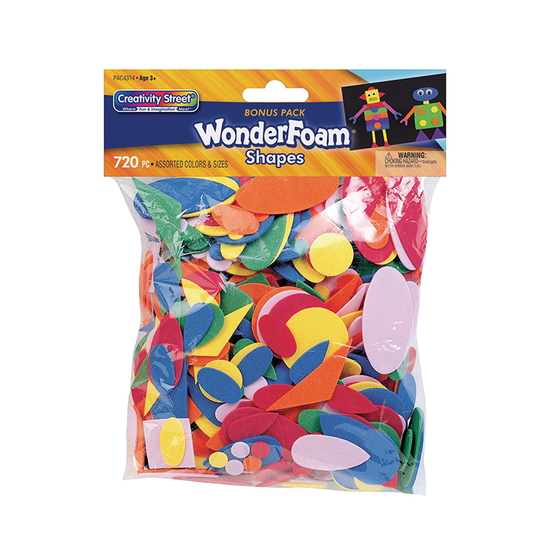 Wonderfoam 720 Pcs In Assrt Colors