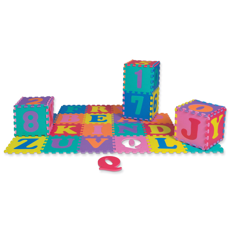 Wonderfoam Letters & Numbers Puzzlemat Set 72 Pieces