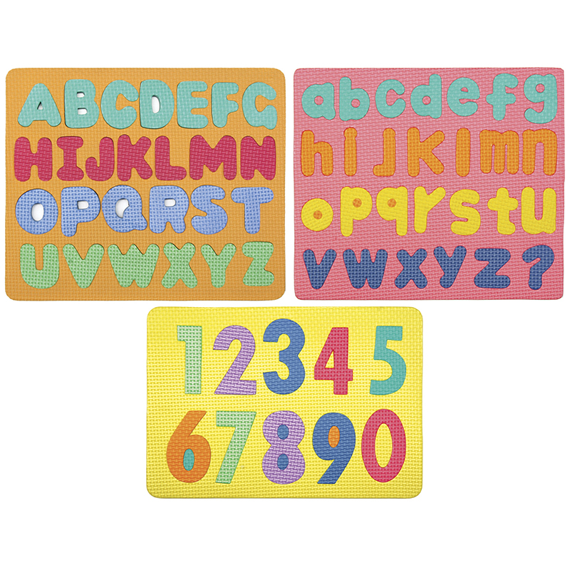(2 Ea) Wonderfoam Magnetic Letters& Numerals Puzzle Set