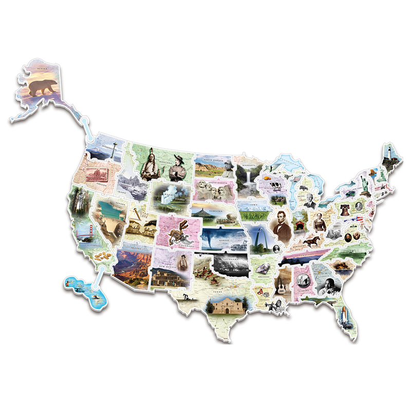 Wonderfoam Giant Usa Photo Puzzlemap