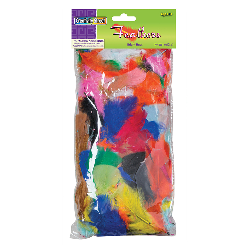 (6 Pk) Feathers Bright Hues 1oz Bag