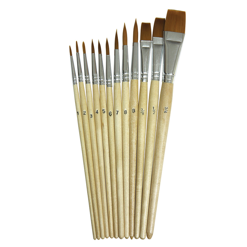 (4 St) Watercolor Brushes 12 Per Pkassorted Sizes