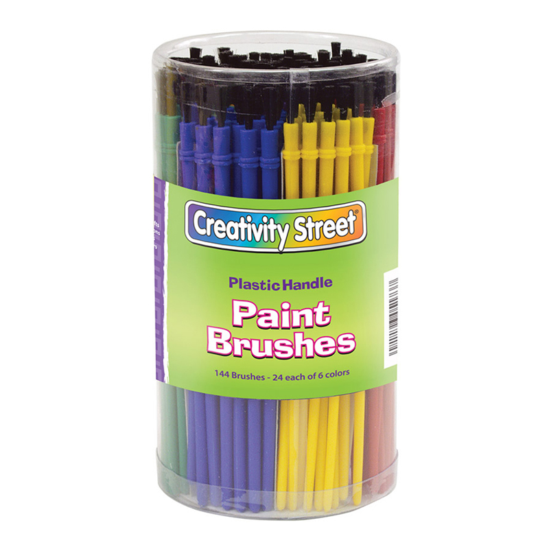 Economy Brushes 144-pk 24 Each Of6 Colors