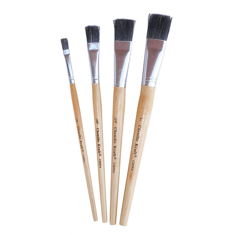 (12 St) Stubby Easel Brush Set