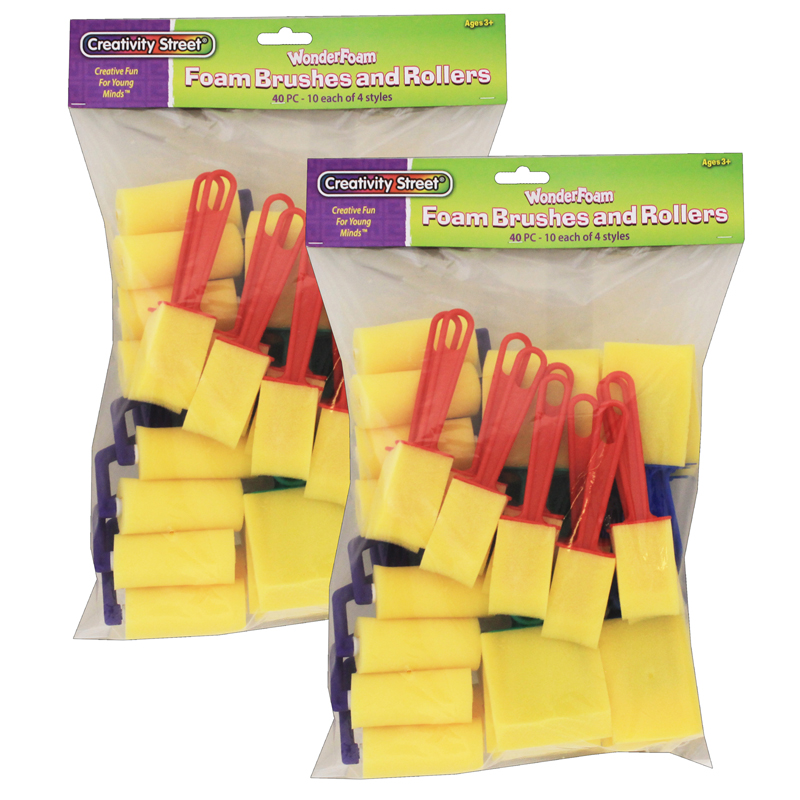 (2 St) Foam Brushes 40 Per Pk
