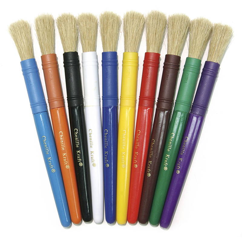 (6 Pk) Colossal Brushes Asst Clrs10 Per Pk