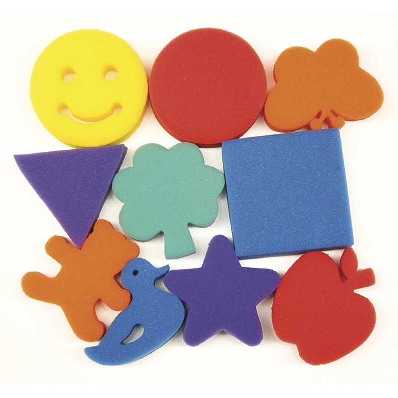 Familiar Shapes Sponge Set 10 Pcs