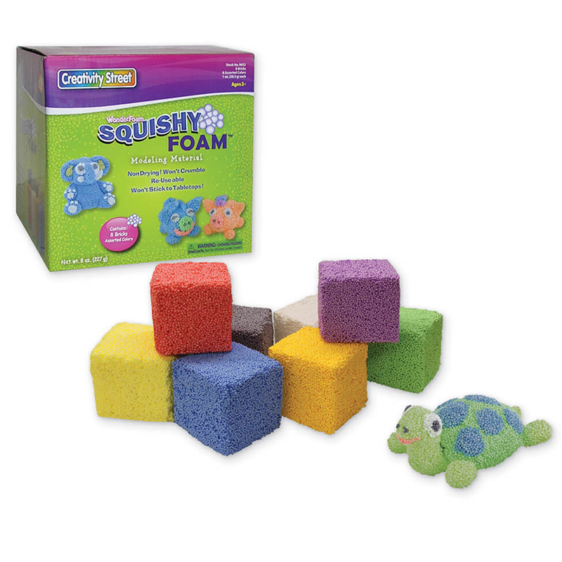Squishy Foam - 8 Colored Pcs
