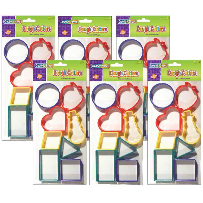 (6 St) Dough Cutters - 8 Shapes Perpk
