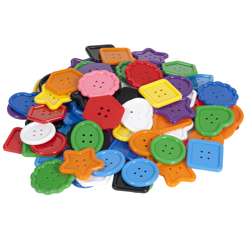 Colorful Assortment Of Buttons100 Pieces
