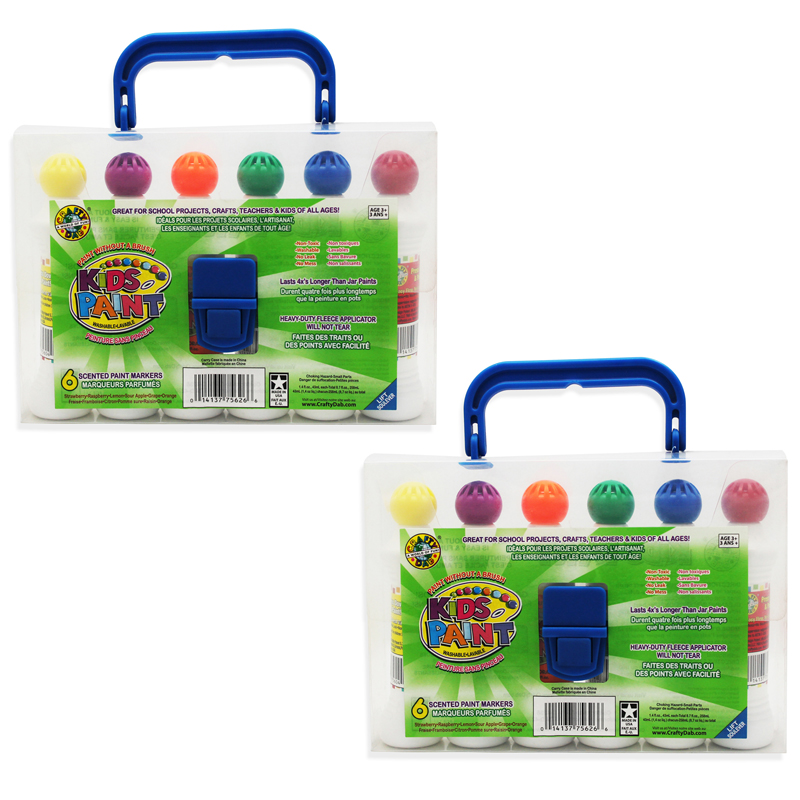 (2 Pk) Crafty Dab Paint 6 Per Pkw/carrying Case