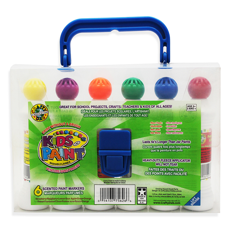 Crafty Dab Paint 6 Pk W/carryingcase