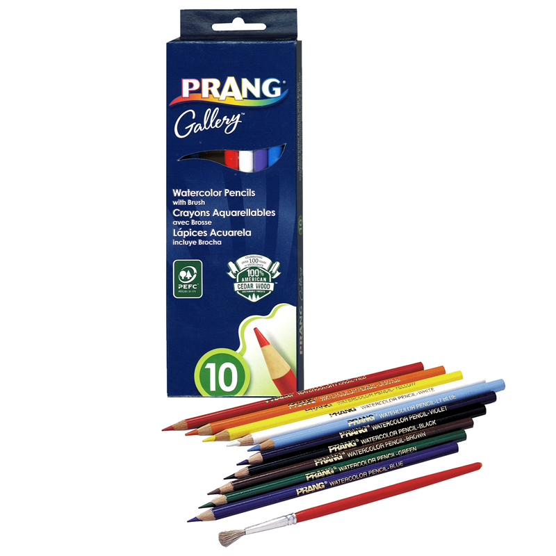 (6 Bx) Prang Watercolor Pencils 10colors Per Pk
