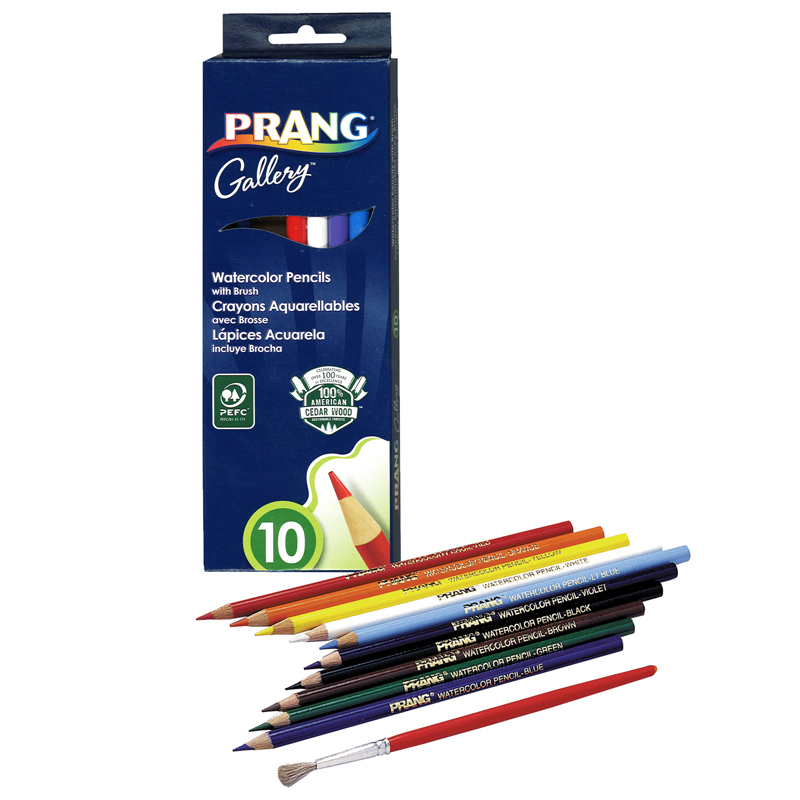 Prang Watercolor Pencils 10 Colors