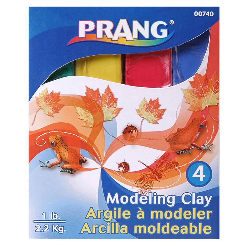 (6 Ea) Prang Modeling Clay Assorted