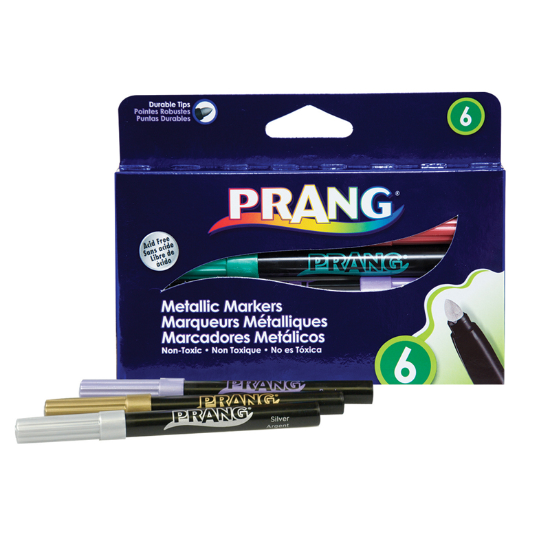 Prang Metallic Art Markers Bullettip 6 Count