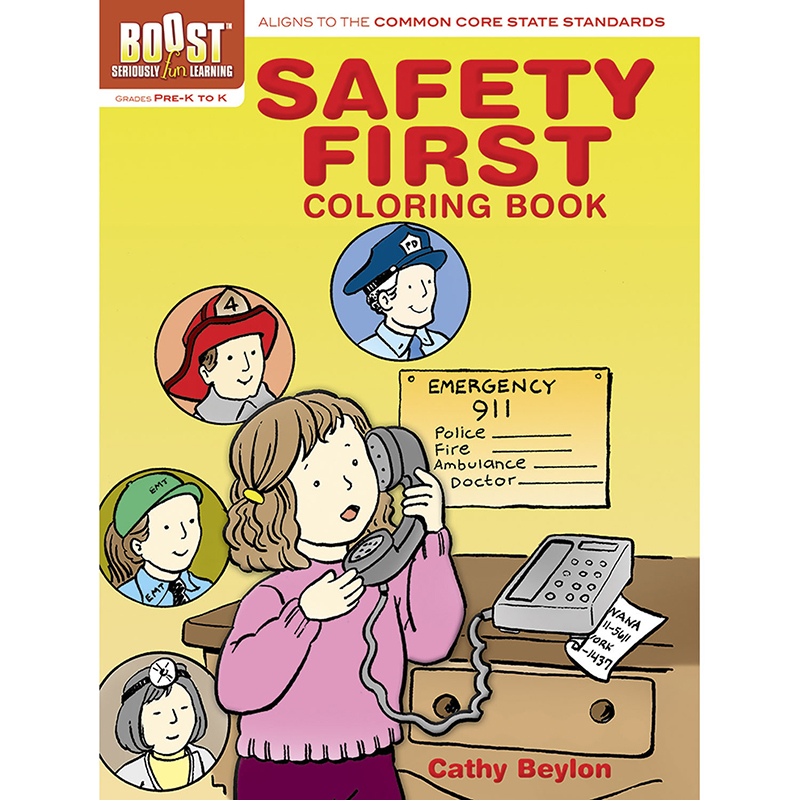 Boost Safety First Coloring Bookgr Pk-k