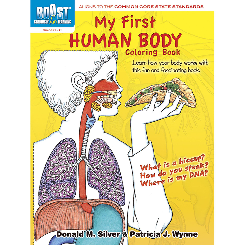 Boost My First Human Body Coloringbook Gr 1-2