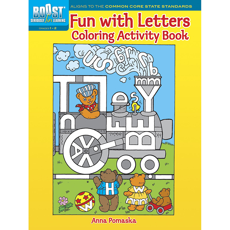Boost Fun With Letters Coloringactivity Book Gr 1-2