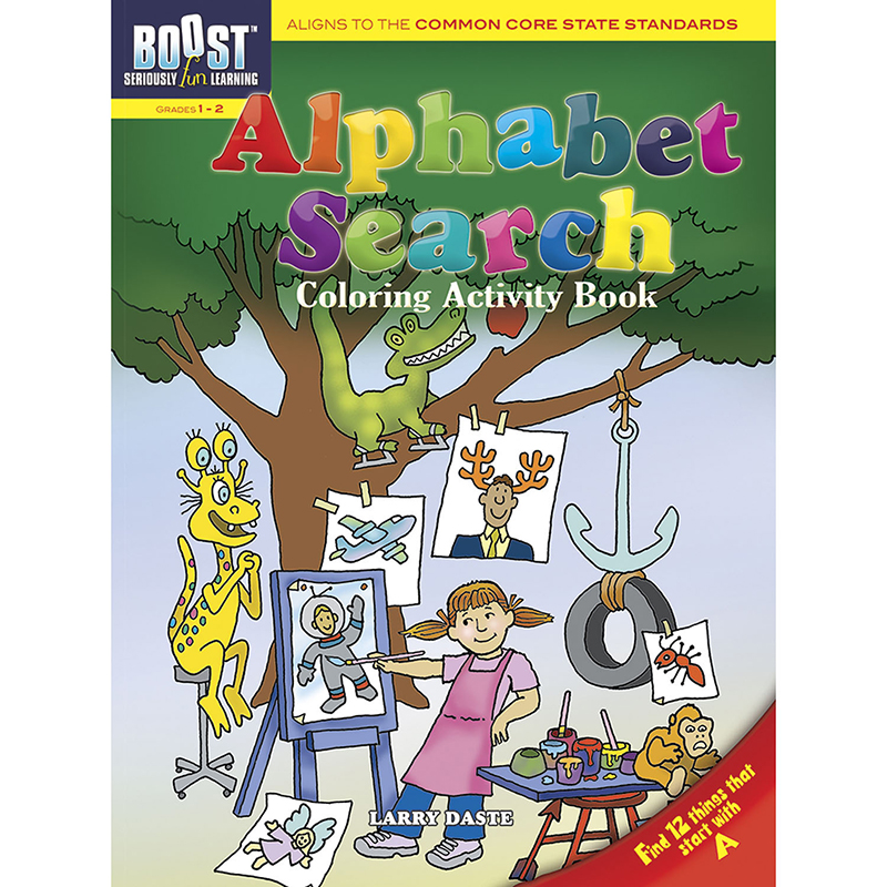 Boost Alphabet Search Coloringactivity Book Gr 1-2