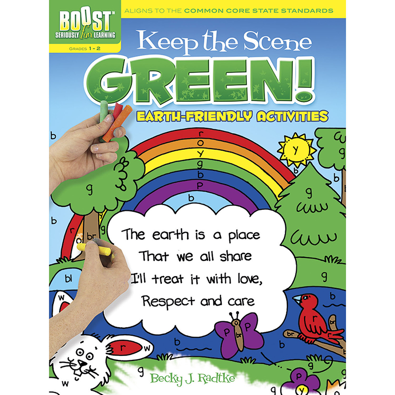 Boost Keep The Scene Green Coloringbook Gr 1-2