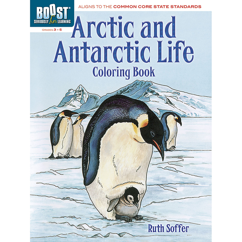 Boost Arctic And Antarctic Lifecoloring Book