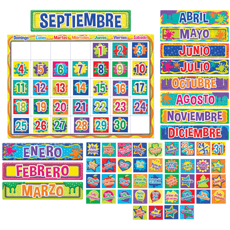 Color My World Spanish Calendar Bbs