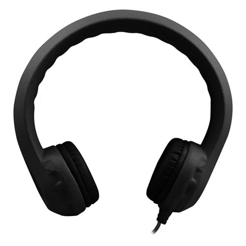 Flex-phones Indestructible Blk Foamheadphones