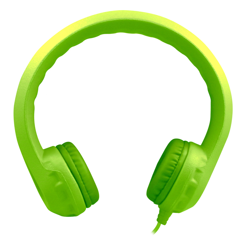 Green Indestructible Foam Headphoneflexphone