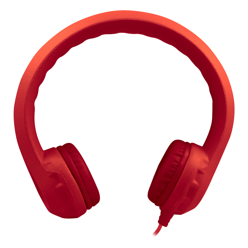 Flex-phones Indestructible Red Foamheadphones