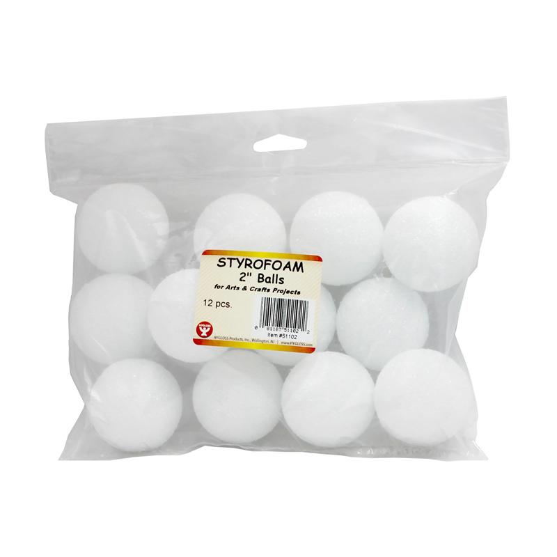 Styrofoam 2in Balls Pack Of 12