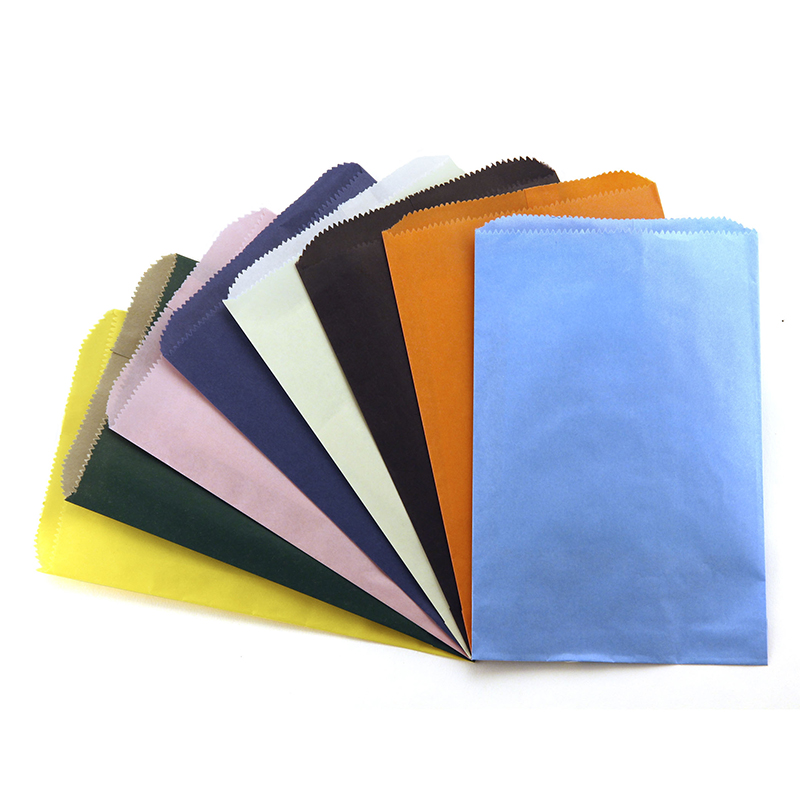 Colorful Paper Bags 6x9 Asstd Colorpinch Bottom