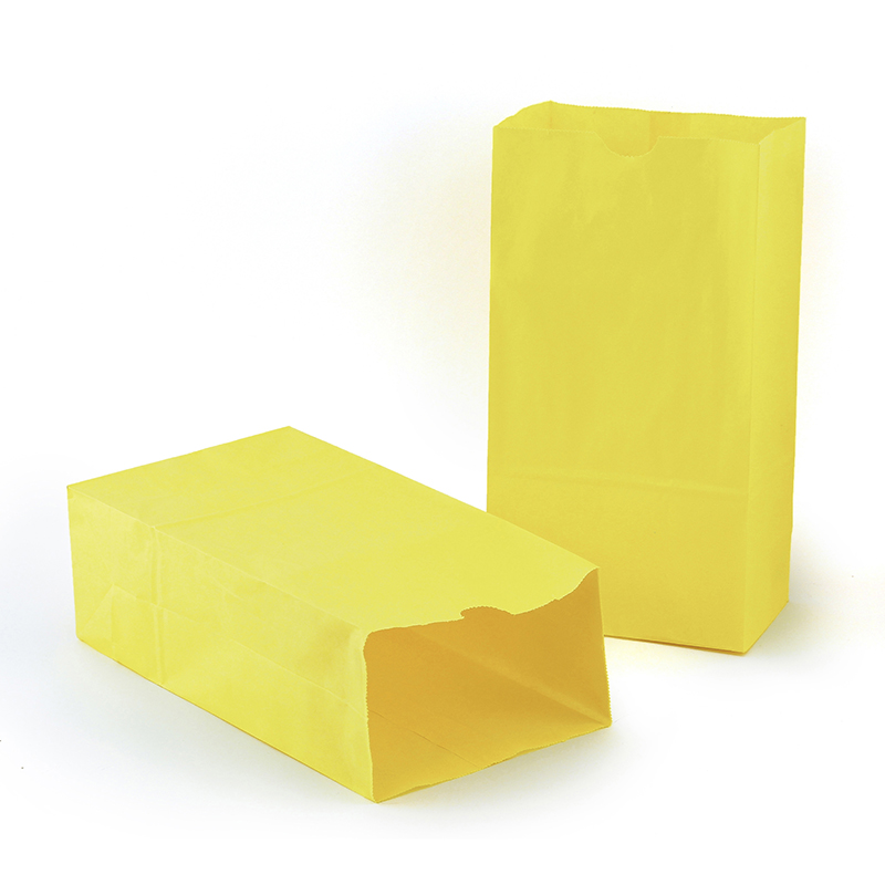 (2 Pk) Colored Craft Bags Yellow