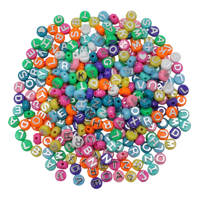 Abc Beads 300pk For Arts & Craftprojects