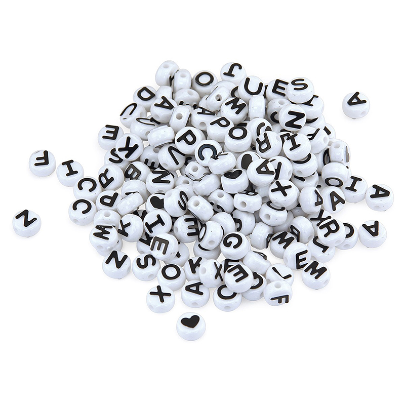 Abc Beads Black And White 300 Count