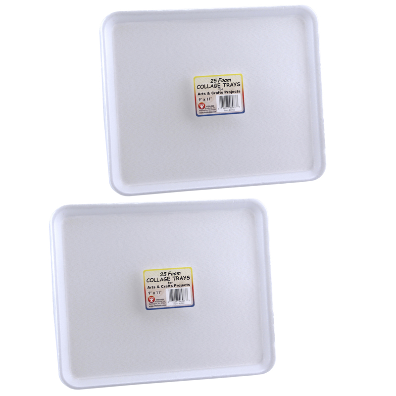 (2 Pk) Collage Trays 25 Per Pk 9x11