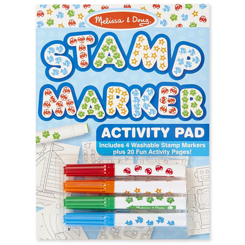 (5 Ea) Stamp Marker Activity Padblue