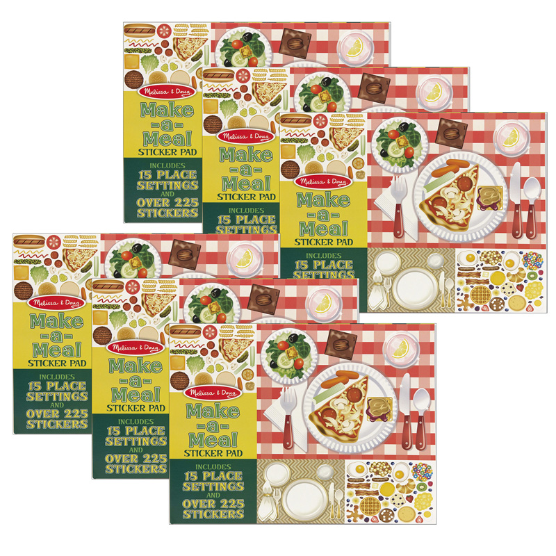 (6 Ea) Make A Meal Sticker Pad