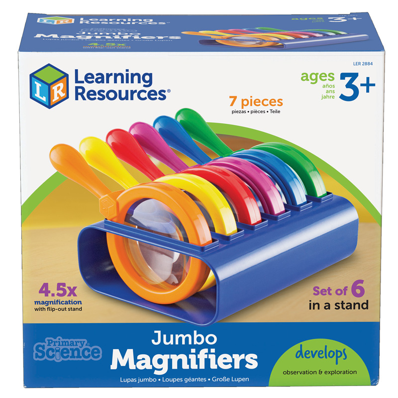 Primary Science Jumbo Magnifiersset Of 6 In A Stand