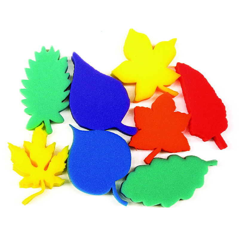 (3 St) Leaf Shape Sponges Asst Of 8