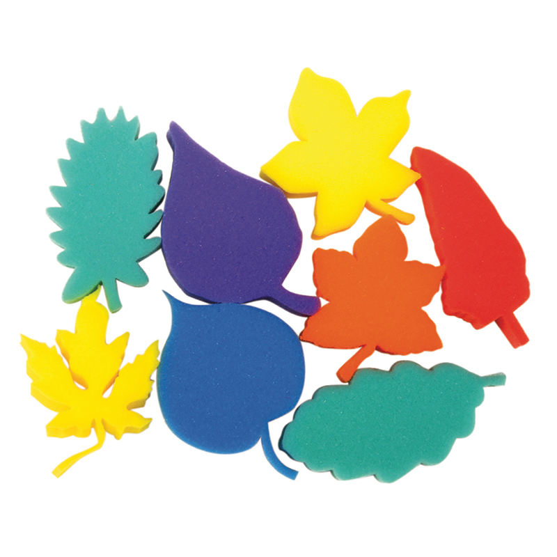 Leaf Shape Sponges Asst Of 8dip Print
