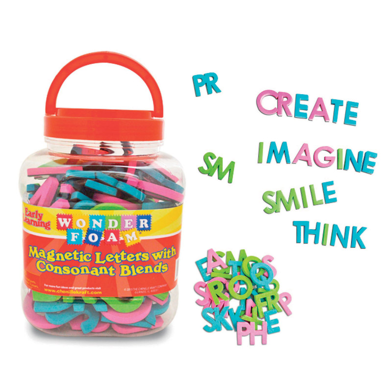 Wonderfoam Magnetic Letters W/consonant Blends