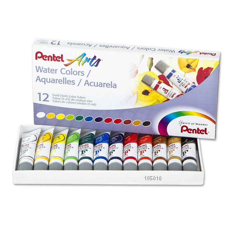 12 Color Pentel Arts Watercolor Set