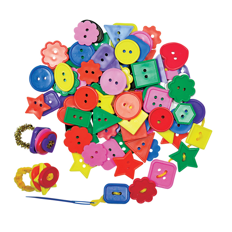 (6 Pk) Craft Buttons .5lb Per Pk