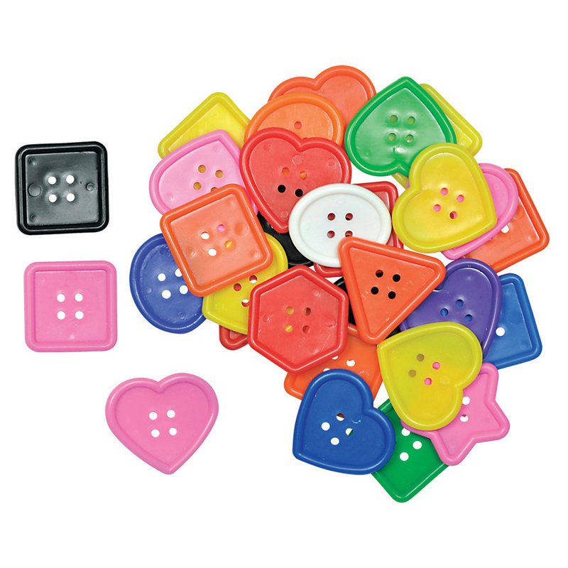 (3 Pk) Really Big Buttons 60 Per Pk