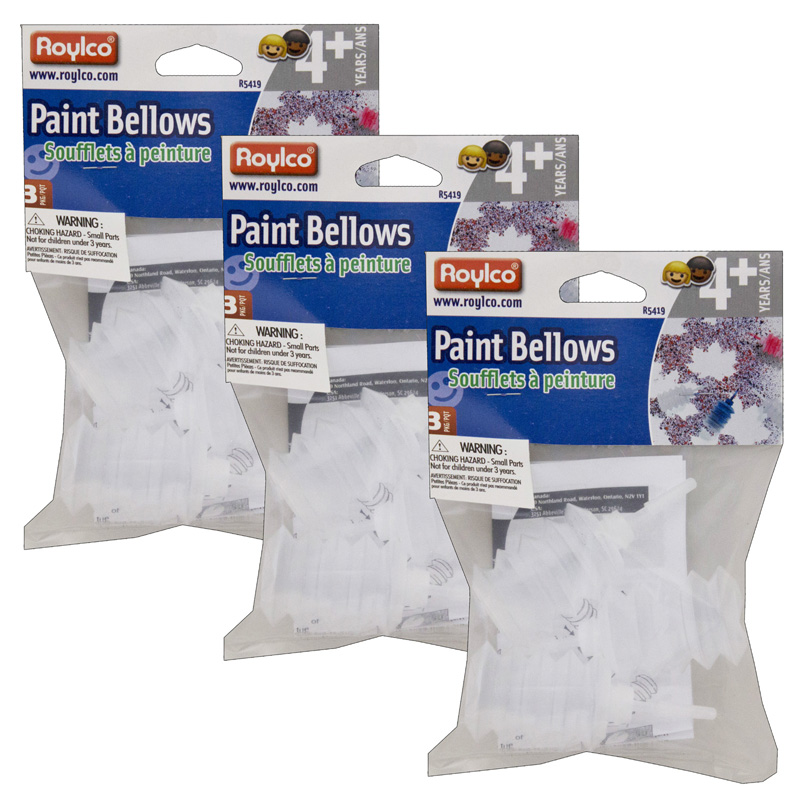 (3 Pk) Paint Bellows 3 Per Pk
