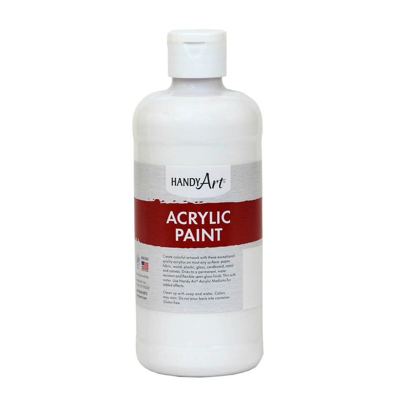 (3 Ea) Acrylic Paint 16 Oz Titanwhite